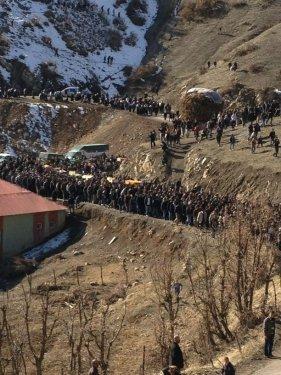 Uludere'de ölen 35 köylü toprağa verildi 1