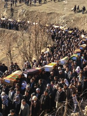 Uludere'de ölen 35 köylü toprağa verildi 2