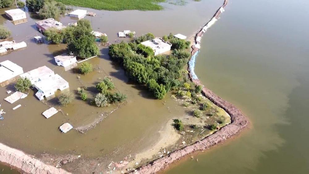 Bismil'de sular altında kalan köyler yukardan görüntülendi. 3