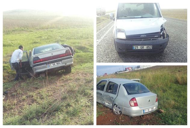 Bismil'de 3 aracın karıştığı kazada 6 kişi yaralandı