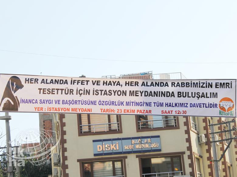 Diyarbakır'da Dev Başörtü Mitingi Hazırlığı