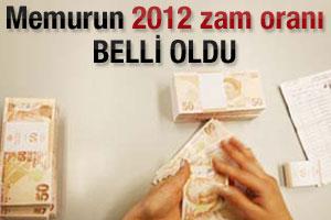 Memurun 2012 maaş zammı belli oldu