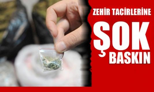 Bismil'de uyuşturucu baskını