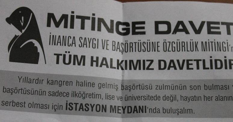 'Özgürlük Mitingi'nin Davetiyeleri Dağıtıldı