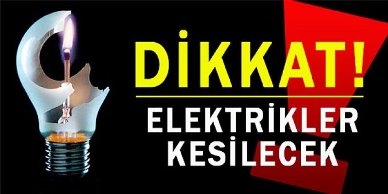 Bismil'de Elektrik Kesintisi Yaşanacak