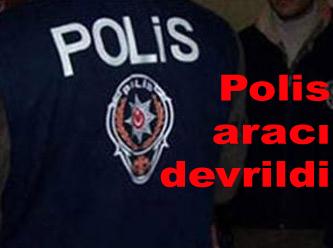 Diyarbakır'da Polis Aracı Devrildi: 3 Yaralı