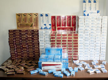 Bismil'de 31 Bin Paket Kaçak Sigara Ele Geçirildi
