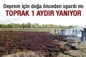 Van'da esrarengiz toprak yangını