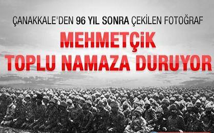 93 yıl sonra Mehmetçik'ten toplu namaz
