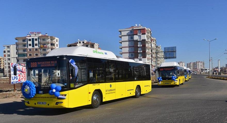 Diyarbakır'da yeni otobüslerle ulaşım başladı