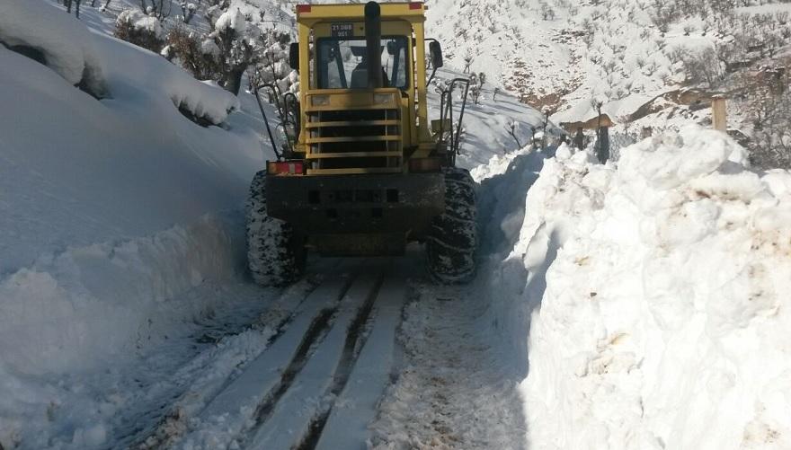 Kırsal ilçelerde 3 bin 651 km yol kardan temizlendi