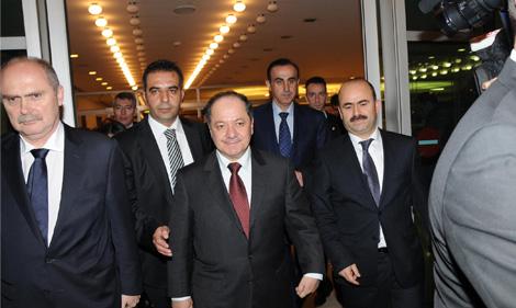 Barzani İstanbul'a Geldi