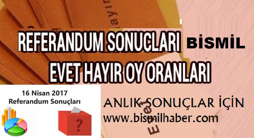 BİSMİL'DE BÜTÜN SANDIKLAR KAPANDI, MAHALLE MAHALLE OY SONUÇLARI