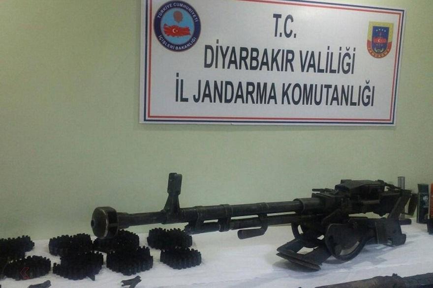 Diyarbakır'da uçaksavar silahı ele geçirildi