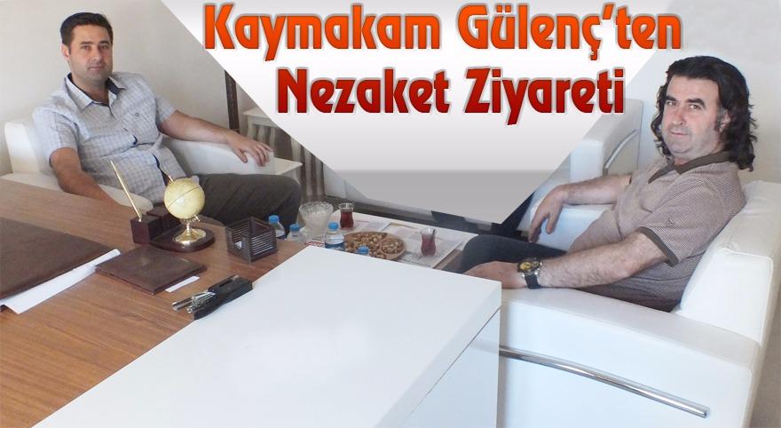 Kaymakam Gülenç'ten Gazetemize Nezaket Ziyareti