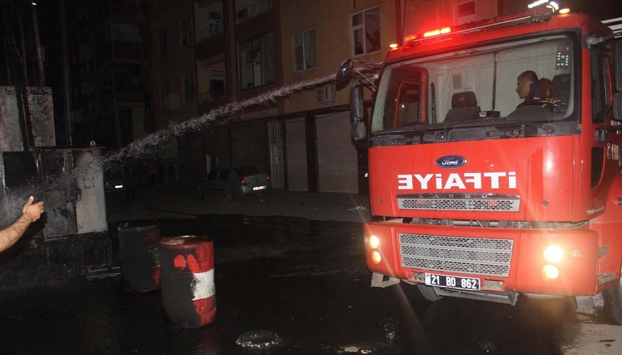 Askerlik şubesi yakınındaki trafo patladı