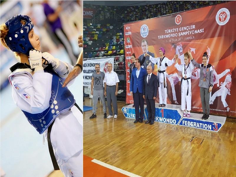 Bismil 46 Kg'da Türkiye Tekvando Şampiyonasında 3. Oldu.
