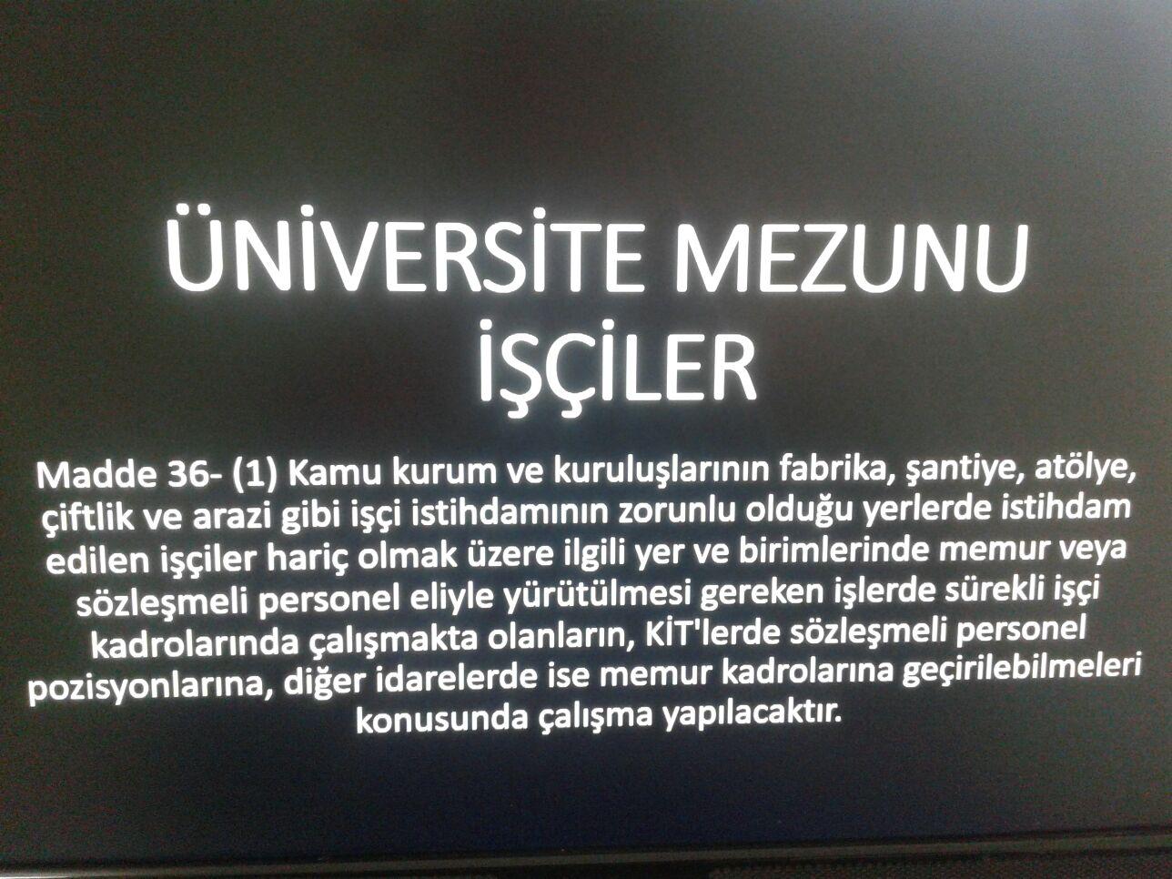 Kamuda Çalışan Üniversite Mezunu Daimi Memur Kadrosu İstiyor.