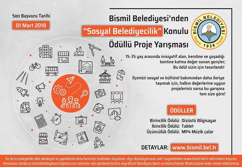 Bismil Belediyesinden Ödüllü Proje Yarışma Başvuruları Başladı