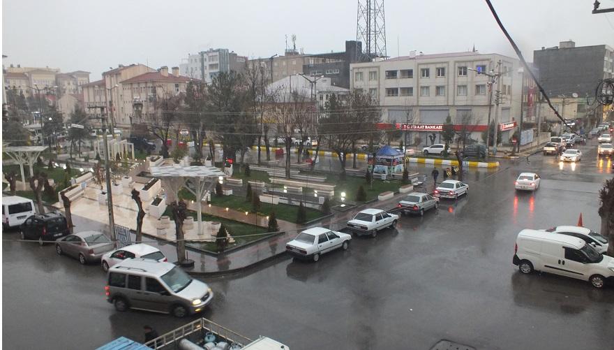 Bismil'de yağmur sevinci