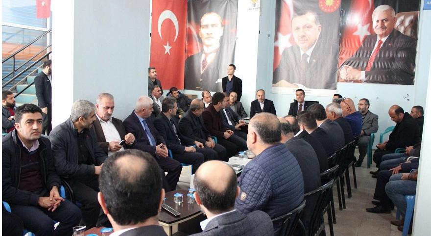 Bismil'de 24 STK Temsilcisi Kızılkaya'ya Hayırlı Olsun Ziyaretinde bulundu.