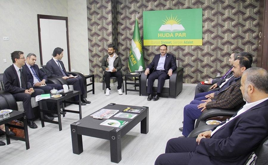 Beş ülke büyükelçiliğinden oluşan heyet HÜDA PAR'ı ziyaret etti