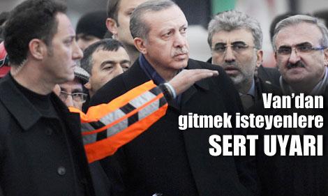 Başbakan, 10 Bakanla Erciş'te