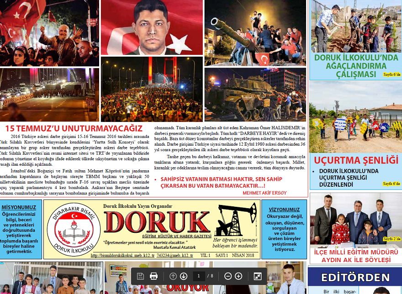 Doruk İlkokulu Okul Gazetesi Çıkardı