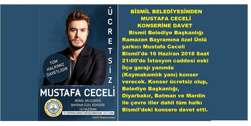 Mustafa Ceceli Bismilli Hayranlarıyla Buluşacak