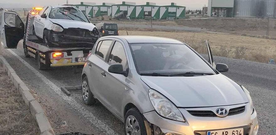 Mıcır dökülen yolda yine kaza meydana geldi