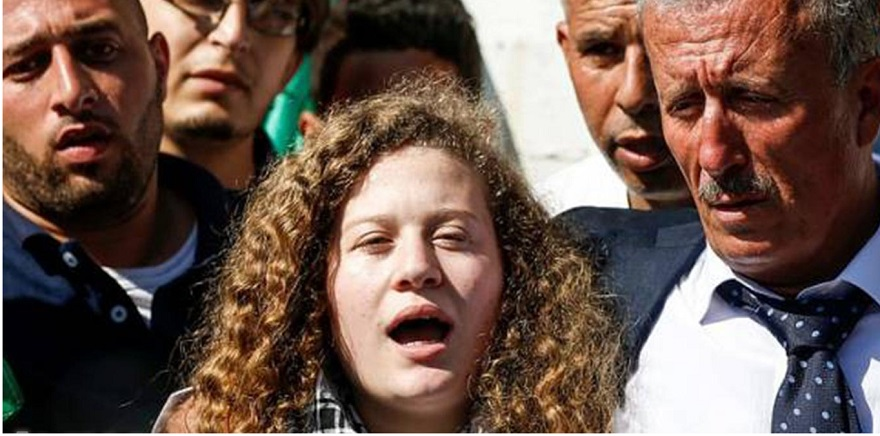 Filistinli kız Temimi serbest bırakıldı