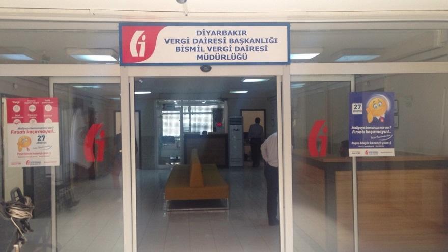 Bismil ilçesine Vergi Dairesi Müdürlüğü kuruldu.