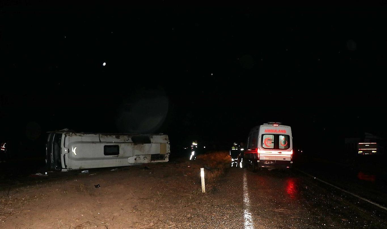 Diyarbakır'daki otobüs kazasında bir kişi hayatını kaybetti