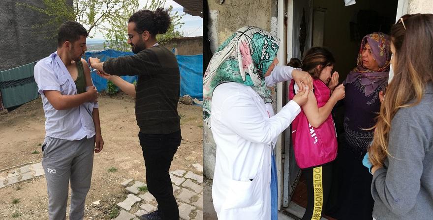 Suriyeli Göçmenlere Yönelik Aşılama Kampanyası