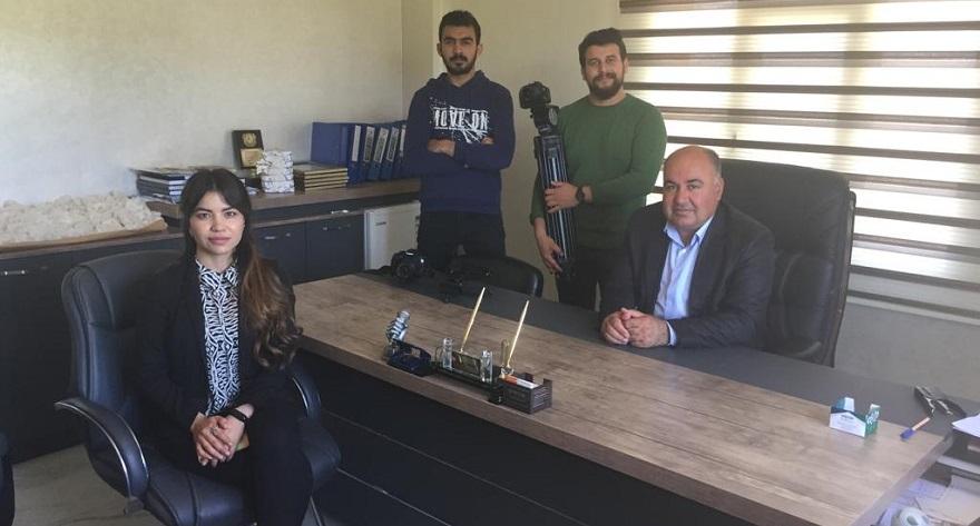 TGRT Sektörel Analiz Programı Ekibi Bismil'de Çekim Yaptı