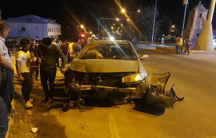 İki araç çarpıştı: Bir yaralı