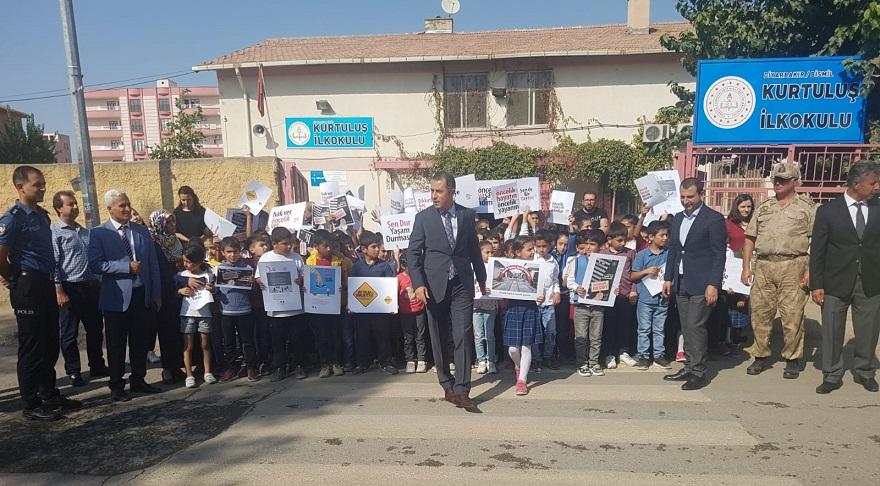 Bismil'de  'Yaya öncelikli Trafik Haftası' etkinliği