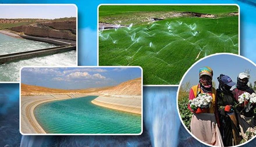 GAP'ta sulama şebekelerinin yüzde 53'ü tamamlandı