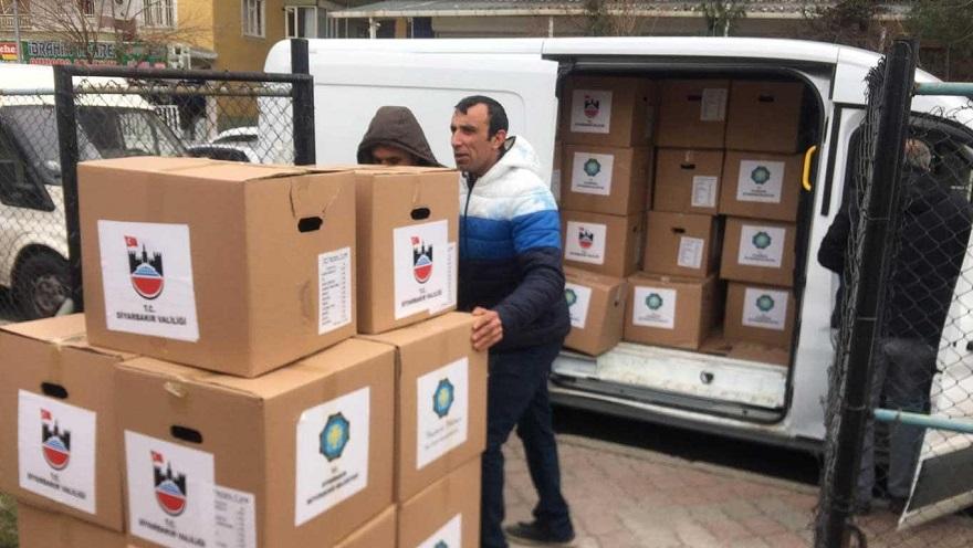 Diyarbakır Büyükşehir Belediyesi'nden Elâzığ'daki depremzedelere gıda yardımı