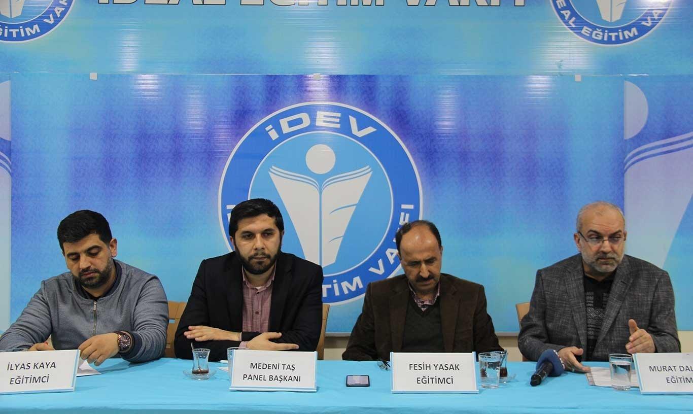 """İDEV Diyarbakır'da """"Türkiye'de sınav sistemi"""" temalı panel düzenledi"""