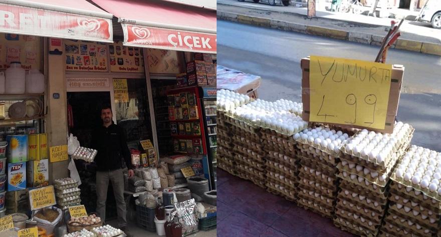 Bismil'de Yumurtanın kolisi 5 liraya kadar düştü.