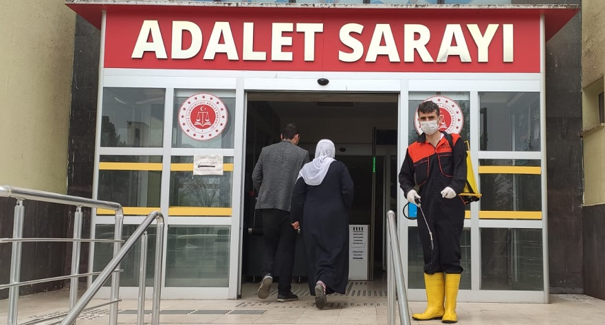 Bismil Adliyesi dezenfekte edildi