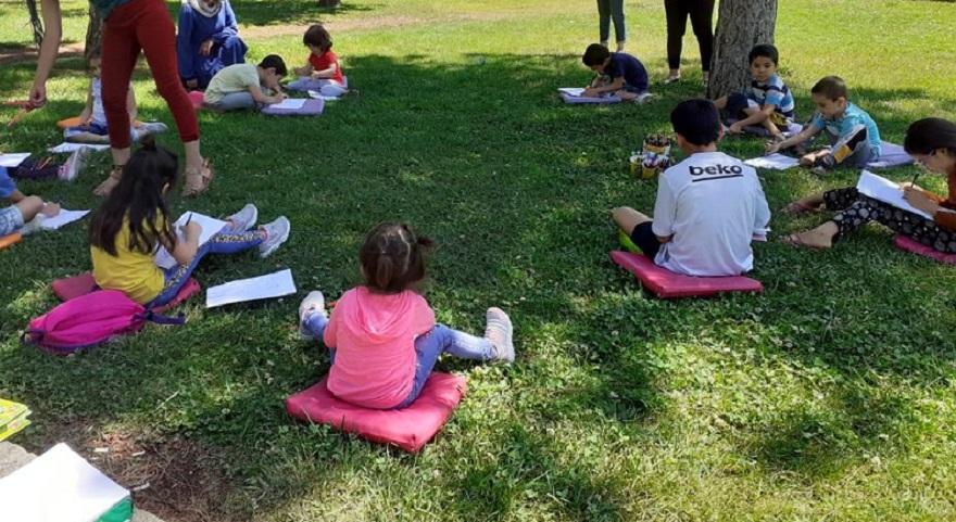 Büyükşehir Belediyesi'nden çocuklara resim etkinliği
