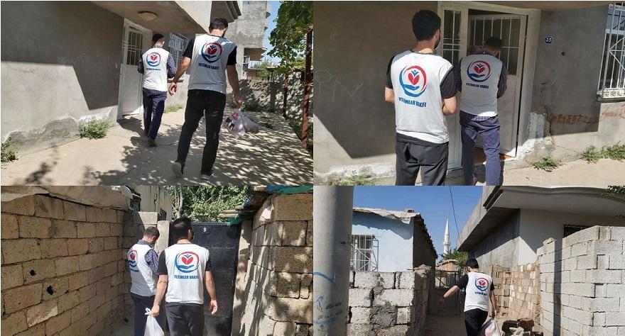 Yetimler Vakfı Bismil'de muhtaç ailelere kırmızı et yardımında bulundu
