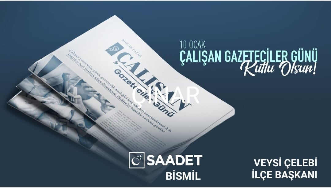 """""""10 Ocak Çalışan Gazeteciler Günü"""" mesajı"""