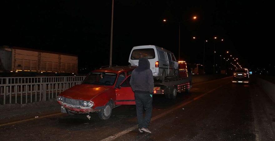 Bismil'de zincirleme trafik kazası
