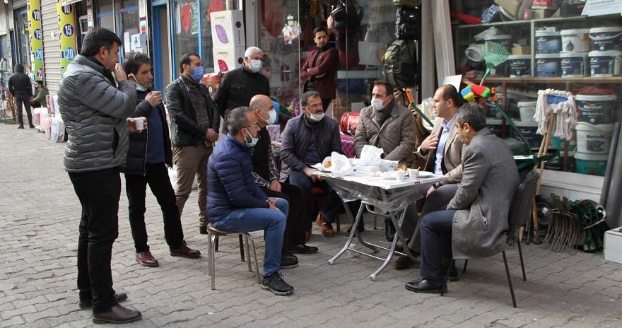 Bismil kaymakamı ve belediye başkan vekili Türkmen'den Esnaf ziyareti