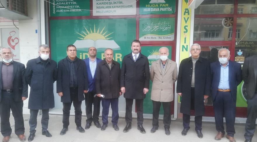 Ak Parti'den HUDA PAR Bismil İlçe Başkanlığına Ziyaret