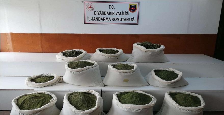 Diyarbakır İl Jandarma Komutanlığı uyuşturucu operasyonu bilgilerini paylaştı