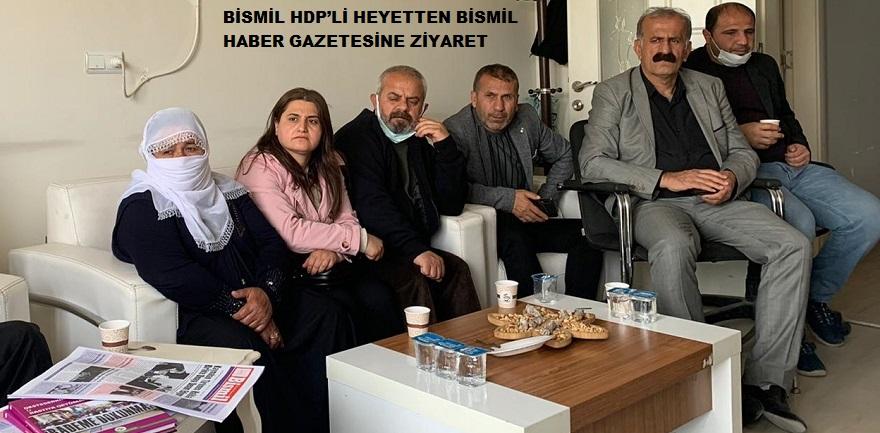 BİSMİL HDP'Lİ HEYETTEN GAZETEMİZE ZİYARET